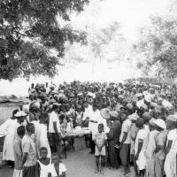 Campagne de vaccination polio. Sénégal, 1963