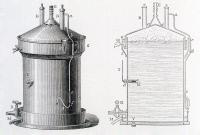 Appareil conçu par Louis Pasteur pour fabriquer le moût de bière à l'abri de l'air atmosphérique