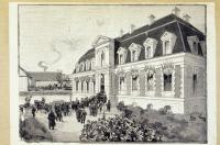 Inauguration de l'Institut Pasteur le 14 novembre 1888. Dessin de Louis Tinayre.