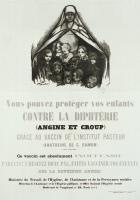 Affiche pour la vaccination contre la diphtérie