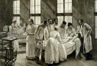 Inoculation du sérum contre le croup par Emile Roux