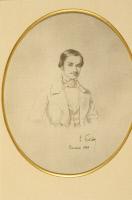 Arthur Tourangin, dessin à la mine de plomb par Louis Pasteur