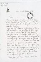 Lettre manuscrite de Louis Pasteur
