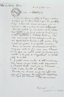 Lettre manuscrite de Oswaldo Cruz à Emile Roux, Rio le 9 Août 1903