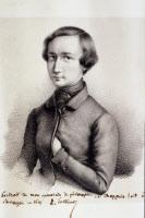 Charles Chappuis, ami de Pasteur. Portrait lithographique par Louis Pasteur.