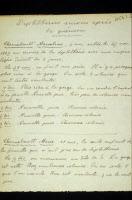 """""""Diphtéries suivies aprés guérison"""" manuscrit d'Alexandre Yersin"""