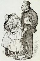 Louis pasteur et 2 petites filles