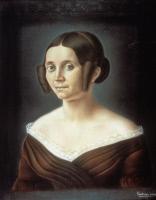 Madame Foncin, pastel exécuté par Louis Pasteur en 1841