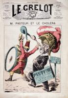 """Caricature """"M. Pasteur et le choléra"""""""