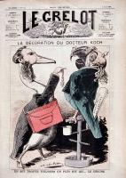 """Caricature : """"La décoration du docteur Koch"""""""