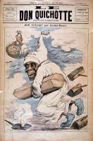 Allégorie du choléra chassé par la salubrité publique