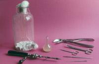 Instruments utilisés par Pasteur pour la fabrication du vaccin antirabique.