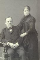 Louis Pasteur et son épouse Marie née Laurent. Photo Lejeune vers 1884.