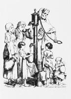 Dessin satirique de 1886 illustrant la diffusion du choléra