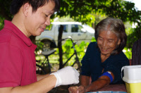 Etude génétique sur les polymorphismes de susceptibilité à l'infection par A(H5N1) au Cambodge.
