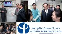 M. François HOLLANDE visite l'Institut Pasteur du Laos le 5 novembre 2012