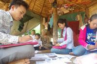 Des équipes de l'Unité d'Epidémiologie et de Santé Publique de l'Institut Pasteur du Cambodge se mobilisent dans les villages