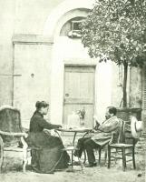 Louis Pasteur et sa femme à Pont-Gisquet en 1886