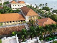 Toits de Institut Pasteur de Nha Trang au Viet-Nam