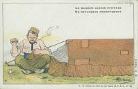 """Carte postale tirée de la série """"Le Moustique voilà l'ennemi ! ..."""""""