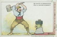 """Carte postale tirée de la série """"Le Moustique voilà l'ennemi !..."""""""