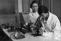Laborantines du laboratoire de la tuberculose à l'Institut Pasteur vers 1930