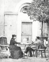 Louis Pasteur et sa femme près d'Alès en 1868