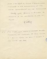 Lettre de Louis Pasteur remerciant la Compagnie du Gaz, 1894 verso