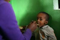 Centre de nutrition dans le quartier 67ha, un des plus pauvres d'Antananarivo (Madagascar)