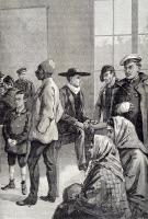 Attente des mordus à l'Institut Pasteur pour la vaccination contre la rage, v. 1895.