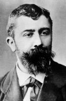 Portrait de Louis Thuillier (1856-1883) collaborateur de Pasteur, mort du choléra à Alexandrie lors d'une mission de recherche sur le choléra.
