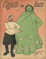 Caricature, choléra, 1908