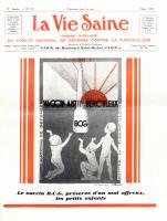"""Couverture de """"La Vie Saine"""" en mars 1931"""