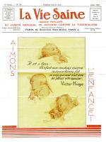 """Couverture """"La Vie Saine"""", juillet 1930."""