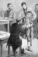 Inoculation du vaccin contre la rage à l'Institut Pasteur v. 1895.