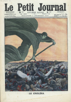Allégorie de l'épidémie de choléra en Turquie, 1912