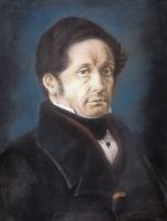 Jean-Joseph Pasteur, père de Louis Pasteur, pastel exécuté par Louis Pasteur en 1842