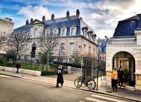 La façade principale de l'Institut Pasteur en 2017
