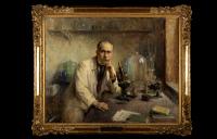 Jules Bordet (1870-1961) au microscope