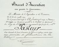 Brevet d'invention pour un procédé de fabrication de la bière le 28 juin 1871.