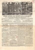"""Couverture du journal """"Le Brasseur"""" du 7 janvier 1877"""