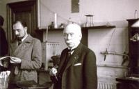 Jules Bordet à l'Institut Pasteur de Bruxelles vers 1950