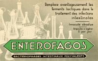 """Publicité pour les ampoules de bactériophages """"Entérofagos"""""""