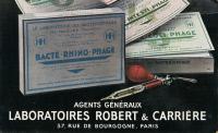 Carte postale de commande de spécialités pharmaceutiques de bactériophages.