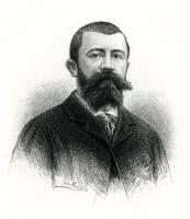 Portrait gravé de Louis Thuillier (1856-1883) par Jules Massart