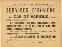 Affiche vaccination antivariolique