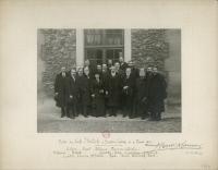 Visite officielle de Paul Ehrlich à l'Institut Pasteur en 1914.