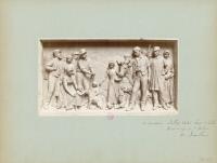 Un des deux bas-reliefs du Monument à Louis Pasteur à Arbois, les bienfaits rendus à l'agriculture