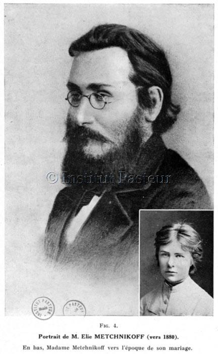 Elie Metchnikoff (1845-1916) et sa femme Olga