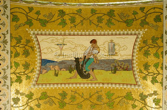 Mosaïque représentant Jean-Baptiste Jupille